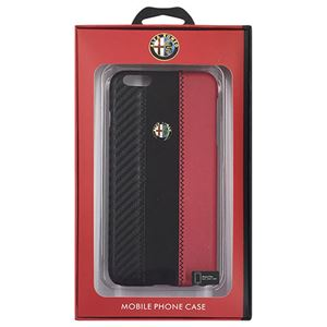 Alfa Romeo 公式ライセンス品 High Quality Carbon Synthettic Leather back cover Red iPhone6 PLUS用 AR-HCIP6P-4C/D5-RD h01