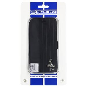 (まとめ)Shelby 公式ライセンス品 Sythetic leather slim flip case w/card holder iPhone6 用 CSL-SSHFCIP6-MU/D4-BK【×2セット】 h01