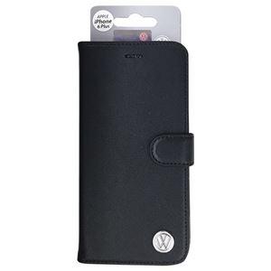 Volkswagen 公式ライセンス品 Volkswagen BOOK CASE Leather Black Type iPhone6 PLUS用 VW14483 h01