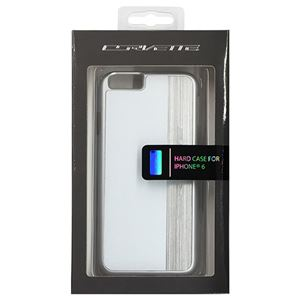 CORVETTE 公式ライセンス品 Hard Case White color、 silver brushed aluminum finish iPhone6 用 COHCP6MEWH h01