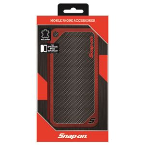 Snap-on 公式ライセンス品 SNAP-ON CARBON LEATHER BOOK TYPE CASE RD FOR IPHONE6PLUS iPhone6 PLUS用 SO-P55L1RBK h01