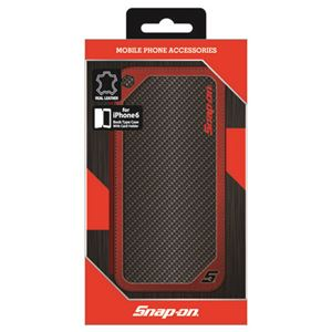 Snap-on 公式ライセンス品 SNAP-ON CARBON LEATHER BOOK TYPE CASE RD FOR IPHONE6 iPhone6 用 SO-P47L1RBK h01