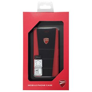 DUCATI 公式ライセンス品 Genuine Leather book case w/card holder 本革製手帳型ケース(カードホルダー付き) iPhone6 用 DU-FCIP6-SB/D1-RD h01