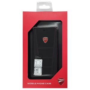 DUCATI 公式ライセンス品 Genuine Leather book case w/card holder 本革製手帳型ケース(カードホルダー付き) iPhone6 用 DU-FCIP6-SB/D1-BK h01
