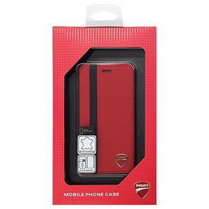 DUCATI 公式ライセンス品 Genuine Leather book case w/card holder 本革製手帳型ケース(カードホルダー付き) iPhone6 PLUS用 DU-FCIP6P-SF/D1-RD h01