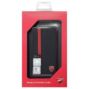 DUCATI 公式ライセンス品 Genuine Leather book case w/card holder 本革製手帳型ケース(カードホルダー付き) iPhone6 PLUS用 DU-FCIP6P-SF/D1-BK h01