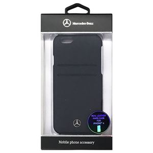 Mercedes-Benz 公式ライセンス品 Pure Line カード収納付ハードケース ネイビー iPhone6 用 MEHCP6PLNA h01