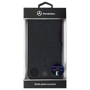 Mercedes-Benz 公式ライセンス品 Pure Line 本革ブック型ケース(パンチング仕上げ) ブラック (カード収納付) iPhone6 PLUS用 MEFLBKP6LPEBK h01