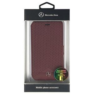 Mercedes-Benz 公式ライセンス品 Pure Line 本革ブック型ケース(パンチング仕上げ) レッド(カード収納付) iPhone6 用 MEFLBKP6PERE h01