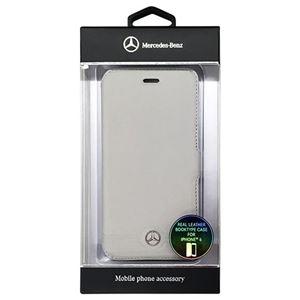 Mercedes-Benz 公式ライセンス品 Pure Line 本革ブック型ケース(フロントグリル) グレー(カード収納付) iPhone6 用 MEFLBKP6EMSGR h01