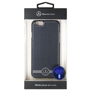 Mercedes-Benz 公式ライセンス品 Pure Line アルミ製ハードケース ブラック iPhone6 用 MEHCP6BRUALBK h01