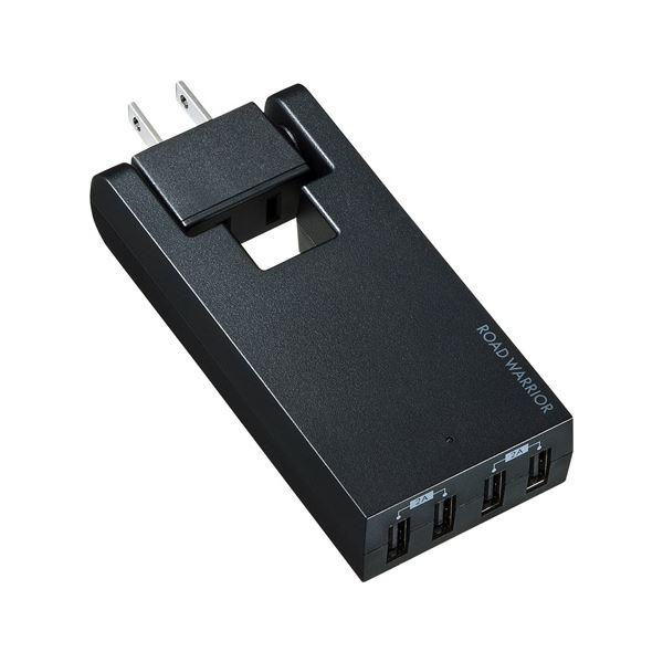 (まとめ)サンワサプライ スイングUSB充電タップ TR-AD3USBBK【×2セット】f00