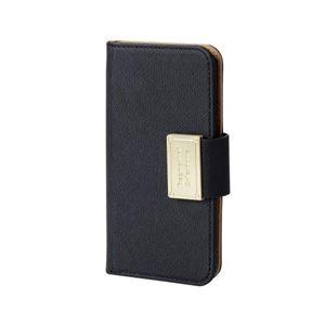 (まとめ)エレコム iPhone SE/5s/5用ソフトレザーカバー/スナップ PM-A16SPLFBBK【×2セット】 h01