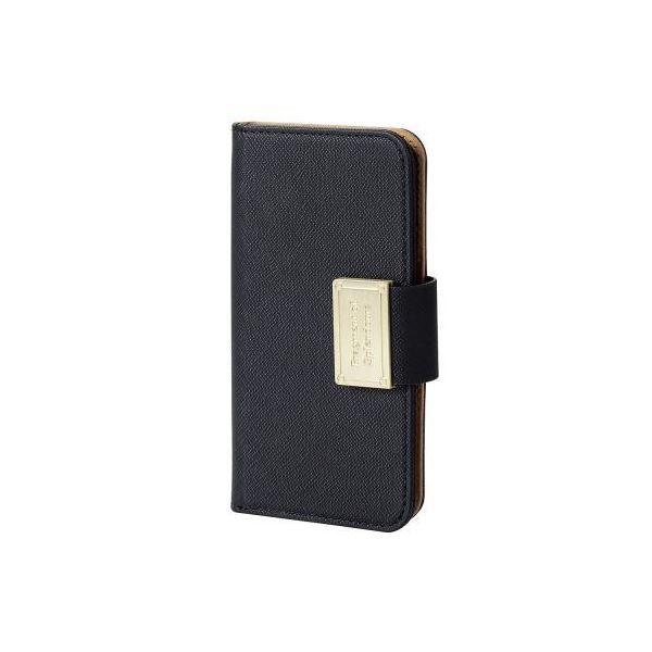 (まとめ)エレコム iPhone SE/5s/5用ソフトレザーカバー/スナップ PM-A16SPLFBBK【×2セット】f00