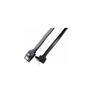 (まとめ)ミヨシ 6Gbps対応SATA3.0ケーブル 逆L型コネクタ 20cm ブラック JST-6G02/BK【×10セット】 h01
