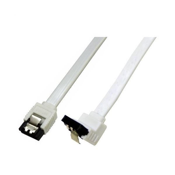(まとめ)ミヨシ 6Gbps対応SATA3.0ケーブル 逆L型コネクタ 30cm ホワイト JST-6G03/WH【×10セット】f00
