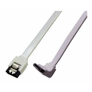 (まとめ)ミヨシ 6Gbps対応SATA3.0ケーブル L型コネクタ 20cm ホワイト JST-6L02/WH【×10セット】 h01