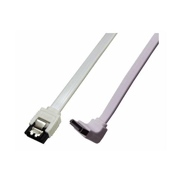 (まとめ)ミヨシ 6Gbps対応SATA3.0ケーブル L型コネクタ 20cm ホワイト JST-6L02/WH【×10セット】f00