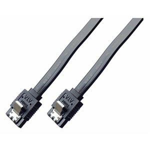 (まとめ)ミヨシ 6Gbps対応SATA3.0ケーブル ストレートコネクタ 20cm ブラック JST-6S02/BK【×10セット】 h01