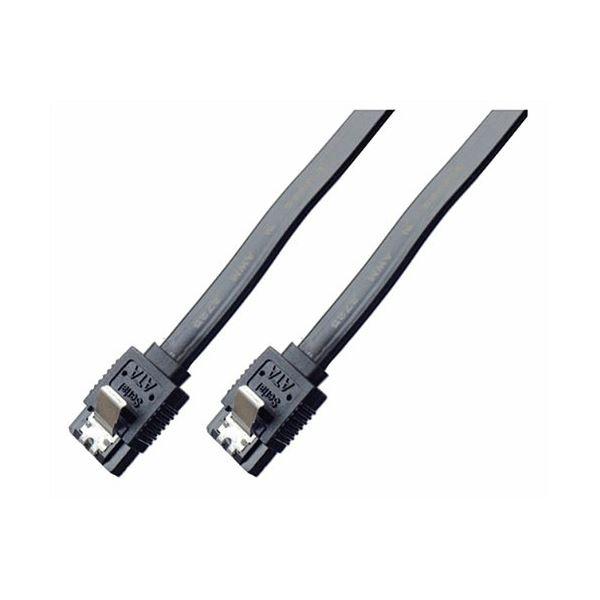 (まとめ)ミヨシ 6Gbps対応SATA3.0ケーブル ストレートコネクタ 20cm ブラック JST-6S02/BK【×10セット】f00