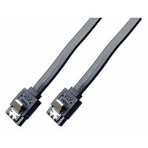 (まとめ)ミヨシ 6Gbps対応SATA3.0ケーブル ストレートコネクタ 100cm ブラック JST-6S10/BK【×10セット】 h01