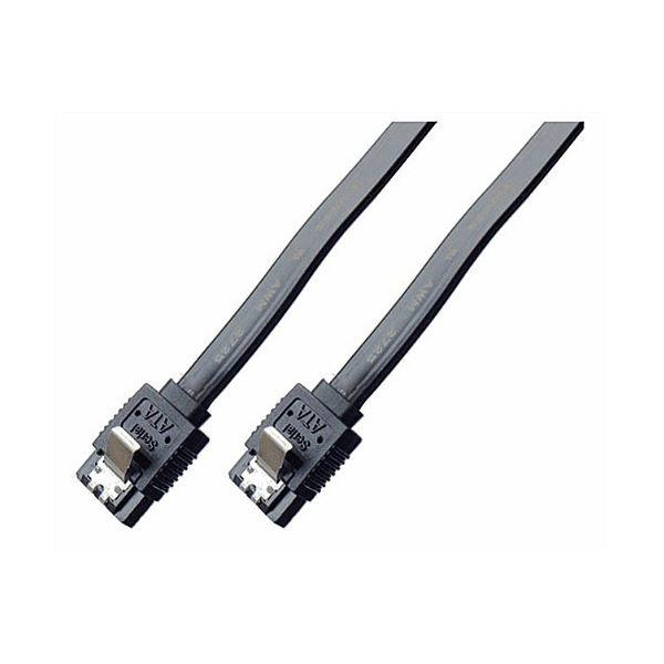 (まとめ)ミヨシ 6Gbps対応SATA3.0ケーブル ストレートコネクタ 100cm ブラック JST-6S10/BK【×10セット】f00