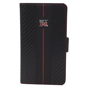 エアージェイ GT-R Universal Book Type Case for Smartphone Leather L Size NR-LAM1BK h01