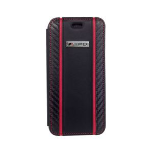 エアージェイ Carbon Leather Book Type Case for iPhone6/6S TRD-P47B7 h01