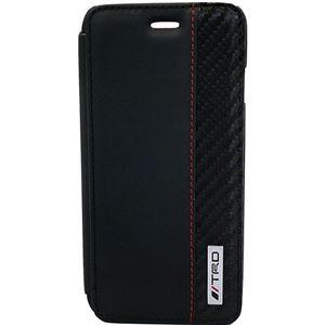 エアージェイ Carbon Leather Book Type Case for iPhone6/6S TRD-P47B8 h01