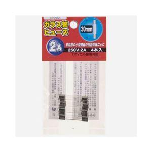 (まとめ)YAZAWAガラス管ヒューズ30mm250VGF2250【×10セット】