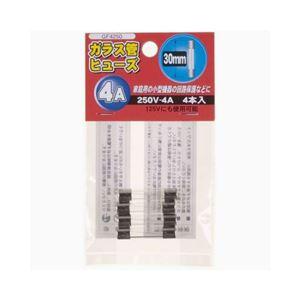 (まとめ)YAZAWAガラス管ヒューズ30mm250VGF4250【×10セット】