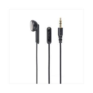 (まとめ)YAZAWAインナーイヤー型片耳イヤホンステレオプラグY01TMS1095BK【×5セット】