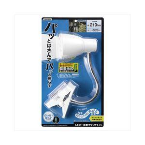 (まとめ)YAZAWA乾電池式LEDフレキシブルクリップライトY07CFLE03W04WH【×2セット】