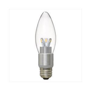 (まとめ)YAZAWA調光対応シャンデリア形LEDランプLDC4LG37D【×2セット】