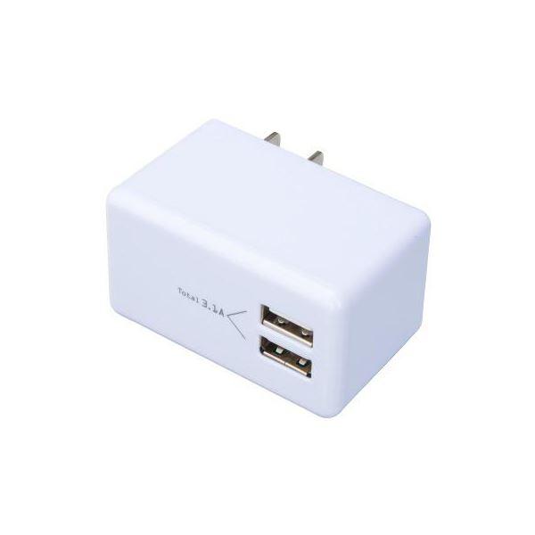 (まとめ)YAZAWA 高出力USB充電器 MCU31A2WH【×3セット】f00