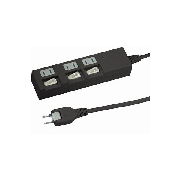 (まとめ)YAZAWA 個別スイッチ付節電タップ Y02BKS335BK【×3セット】f00