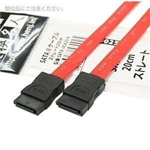 (まとめ)変換名人 SATA 2 ケーブル ストレート20cm SATA-IICA20/V【×10セット】 h01