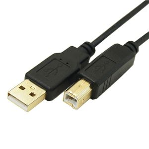 (まとめ)変換名人 極細USBケーブルAオス-Bオス 1m USB2A-B/CA100【×10セット】 h01