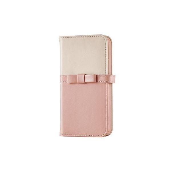(まとめ)エレコム iPhone5/5s用レザーカバー/for Girl PM-A16SPLFGPN【×2セット】f00