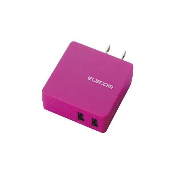(まとめ)エレコム MPA-ACUCN005シリーズ2ポートPN MPA-ACUCN005PN【×3セット】f00
