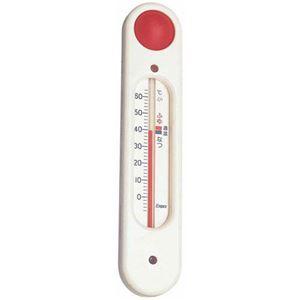 (まとめ)EMPEX吸盤付浮型湯温計元気っ子TG-5101ホワイト【×5セット】