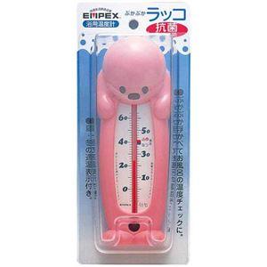 (まとめ)EMPEX浮型湯温計ぷかぷかラッコTG-5203ピンク【×5セット】