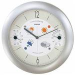 EMPEX 掛け時計 ウォールクロック 晴天望機 1台4役 BW-5371 シャインシルバー
