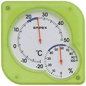 EMPEX温度・湿度計シュクレmidi置き掛け兼用TM-5603クリアグリーン