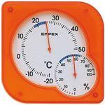 EMPEX 温度・湿度計 シュクレmidi 置き掛け兼用 TM-5604 クリアオレンジ