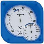 EMPEX 温度・湿度計 シュクレmidi 置き掛け兼用 TM-5606 クリアブルー