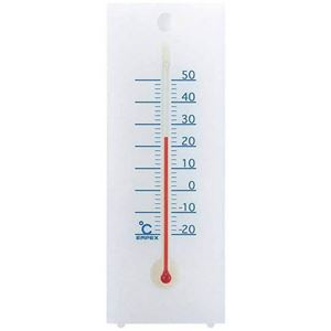 EMPEX温度度計シュクレ温度計卓上・壁掛兼用TG-2351クリアホワイト