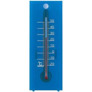 EMPEX温度度計シュクレ温度計卓上・壁掛兼用TG-2356クリアブルー