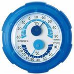 (まとめ)EMPEX 温・湿度計 シュクレミニ温度・湿度計 TM-2386 クリアブルー【×5セット】
