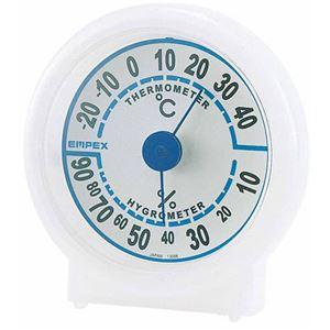 (まとめ)EMPEX温度・湿度計シュクレ温度・湿度計TM-5521クリアホワイト【×5セット】
